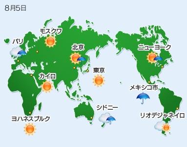 世界の天気 - 毎日新聞